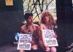 Schutzlos der Gaffgier ausgeliefert! Silke Rutenberg und Reinhold Kassen für Menschenaffe Porgy in München 1996