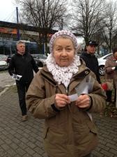 """Danuta Zaczyk, die erste Vorsitzende der Düsseldorfer Tierrechtsorganisation """"Die Eulen"""""""