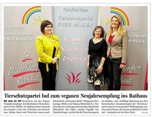 Die Tageszeitung NRZ über den Neujahrsempfang